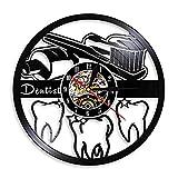 A/N 30センチ口腔衛生歯ブラシと歯磨き粉のバスルームの装飾壁時計歯デンタルケアクリニックビニールレコード壁時計歯科医のギフト