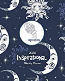 2020 Inspirational Weekly Planner: Aquarius Horoscope Sign - Blue Celestial -Dated Yearly Planning Calendar with Motivational Quotes from Women- 2 Pages per Week