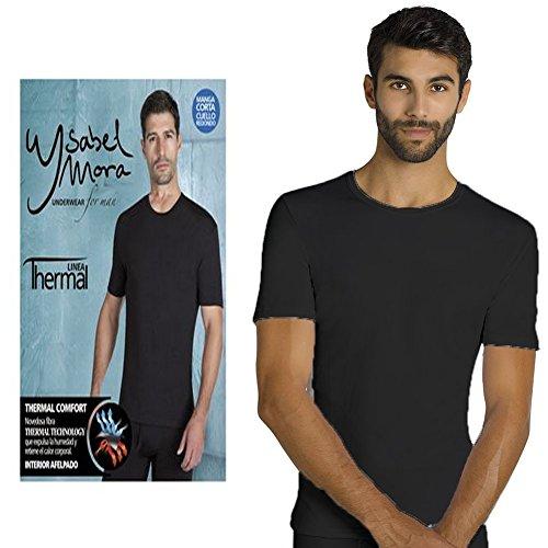 Camiseta Termica Manga Larga Ysabel Mora (Negro, XL)