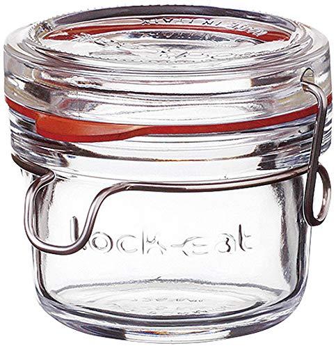 Bormioli Luigi(ボルミオリ ルイジ) ロックイート フードジャー125 [ Φ84 x H76mm 178ml ] 【 キャニスター&ボトル 】| 保存容器 乾物 ジャム ガラス カフェ 飲食店 おしゃれ 業務用