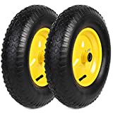 AR-PRO (2-Pack) 4.80/4.00-8' Tire and Wheel Set - Universal Replacement Utility Equipment Tubed Tire and Wheel,3' Hub, and 5/8' Ball Bearings