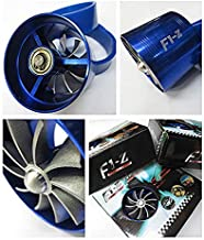 MEYLEE Doble Ventilador F1-Z Universal Air Intake Single Turbonator Turbo Fuel Gas Ahorro Infla La Aceleración Pipe