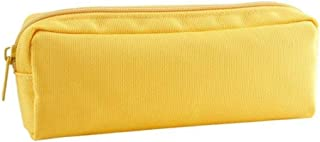 YWSCXMY-AU Simple Solid Color Pencil Case Cute Zipper Large Capacity Pencil Bag Student Supplies Tools (Color : Yellow)