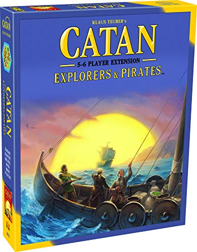 Catan Explorers and Pirates Board Game Extension Allowing a Total of 5 to 6 Players for The Catan Explorers and Pirates Expansion | Board Game for Adults and Family | Made by Catan Studio