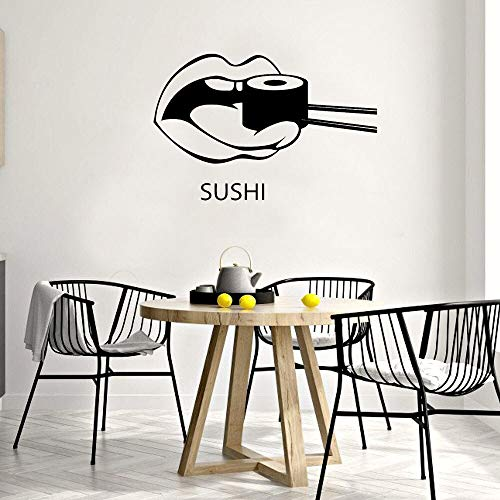 JXFM 54x34cm can be customized sushi wall decals restaurant kitchen kitchen wall stickers home decoration art mural vinyl wallpaper poster self-adhesive decoration