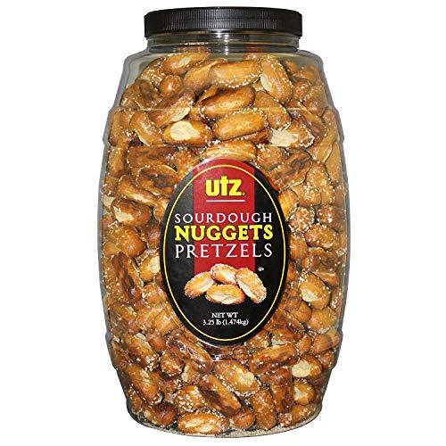 Utz Sourdough Nuggets Pretzels Barrel 52 Ounce Pack of 2