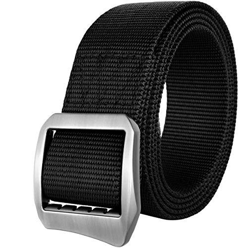 Drizzte 47'' Mens Belts Nylon Webbing Military Duty Tactical Belt Black