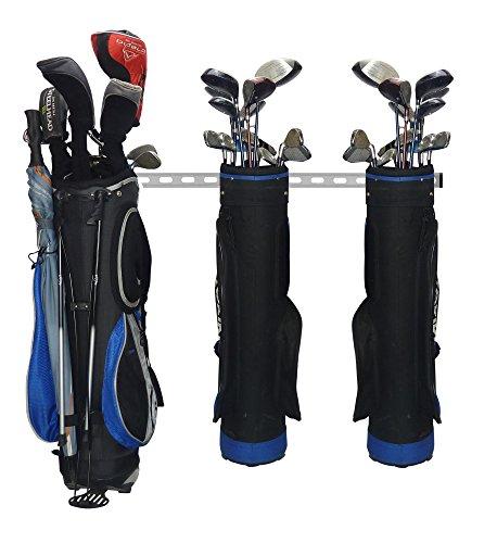 GearHooks Golf Stauraum System | Golf Tasche Rack für Verwendung mit 2, 3, 4, Oder 5Taschen | Golf Garage Storage System Perfekt für Taschen, Trolleys und Golfwagen, GR5GRY, Grau, 5 Golf Bag/Trolley