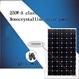 zhangchao Panel Solar, Junta Generación Panel Solar 250W Crystal Individual 250W de Potencia de 24V Carga de componentes de la batería conectada a la Red Fotovoltaica de Generación de Energía