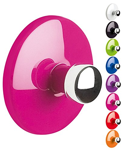 Spirella Handtuchhaken Haken Selbstklebend Bad und Küche 'Bowl' Handtuchhalter Kleiderhaken Ohne Bohren Ø5 cm - Pink