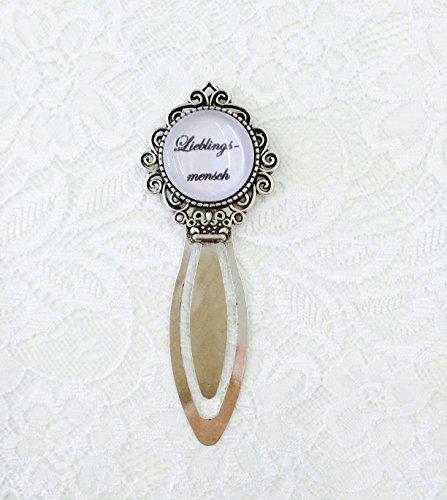 Personalisiertes Cabochon Lesezeichen personalisiert mit Foto oder Text, tolles Geschenk, Buch lesen (rund silber)