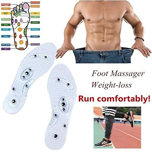 lzndeal Einlegesohlen,Gel Einlegesohlen, Massage Einlegesohlen, Magnetische Physiotherapie Einlegesohle, Abnehmen Einlegesohlen für Mann-Frauen, Anti-Fasciitis, die Fersen-Schmerz entlasten