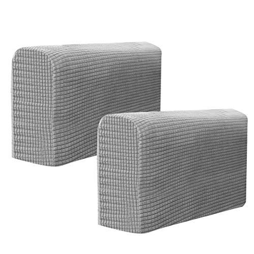 VOSAREA - 2 pezzi di tessuto estensibile, per braccioli, copridivano, universale, elastico, per proteggere