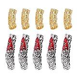 Minkissy Dreadlocks Des Haares - Set de 10 rebordes con accesorios delicados