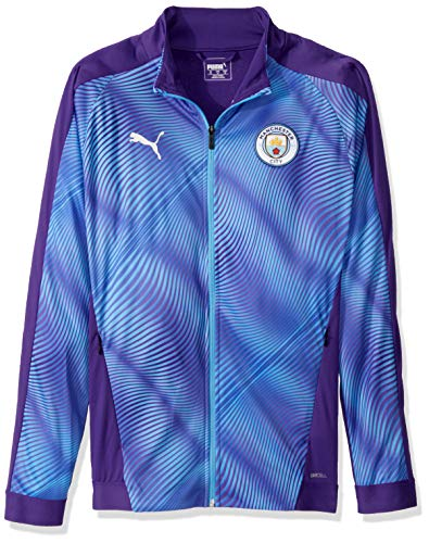 PUMA Mens Manchester City Licensed Stadium Jacket X-Large, Tillandsia Purple/Team Light Blue