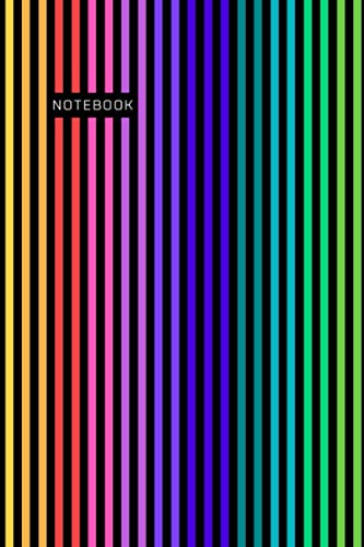 NOTEBOOK: Awesome Rainbow Composition Notebook for School College Office, Journal, Diary, Organizer, Paperback (100 Pages, Lined, 6 x 9)
