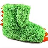 Wonder Nation Children / Kids / Baby / Boys / Girls Dragon Claw Dinosaur Foot Monster Claw Indoor House Slippers / Shoes Costume (Toddler/Little Kid) - Green (11-12 M US Little Kid)
