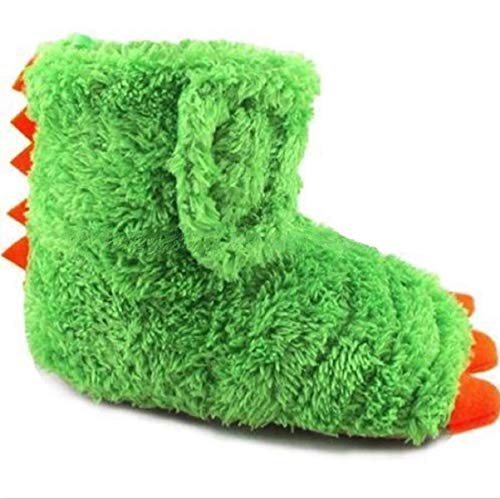Wonder Nation Children / Kids / Baby / Boys / Girls Dragon Claw Dinosaur Foot Monster Claw Indoor House Slipper / Shoes Costume (Toddler/Little Kid) - Green (7-8 M US Toddler) (About 6.5')