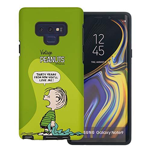 Galaxy Note9 ケース と互換性があります Peanuts Linus Van Pelt ピーナッツ ライナス ヴァン ペルト ダブル バンパー ケース デュアルレイヤー 【 ギャラクシー ノート9 ケース 】 (漫画 ライナス) [並行輸入品]
