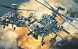 Cjktgt DIY 5D Kit de Pintura de Diamante,helicóptero Militar Pintura de Diamantes 5D con Bordado para Manualidades,Punto de Cruz,decoración del hogar (30x45cm)