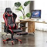 FACAIA Asientos para Juegos, E-Sports Silla para Juegos, computadora, Oficina, sillón, sillón para arrodillarse (Color: Rojo)