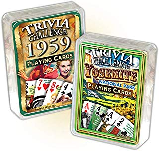 Flickback Media, Inc. 1959 Triva Playing Cards & Yosemite National Park Trivia Playing Cards Combo: Happy 59th Birthday