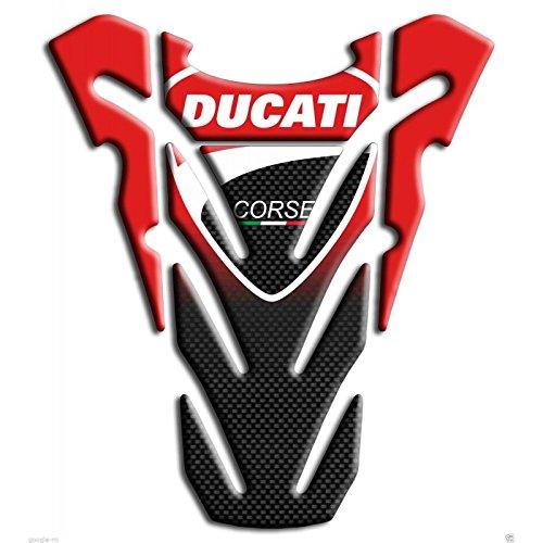 Tankpad Motorad Draht Muster Tankschutz ' Ducati Corse Monster Kohlenstoff1'' Polymer 3D