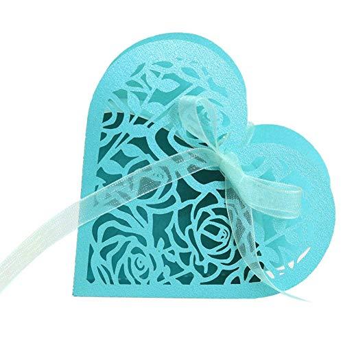 Demarkt Huwelijk snoepgoed dozen schattig papier bruiloft baby shower Favor geschenk bonbondoosje hol liefde bonbondoosje blauw