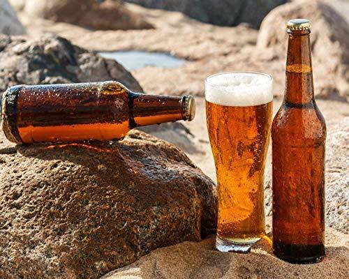 nobrand canvas schilderij bier op de rots flessen wijnglas poster afbeelding wanddecoratie moderne wooncultuur voor de woonkamer 50x60cm geen lijst