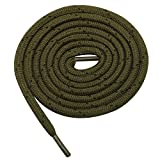 Shoestring Polyester Round Unisex Shoelaces for Casual Sports Shoes- Pack of 3, Olive