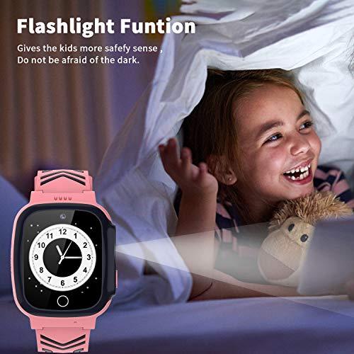 Jaybest Enfants Montre Intelligente Étanche, Montre Connectée Enfant Tracker Smartwatch pour SOS...