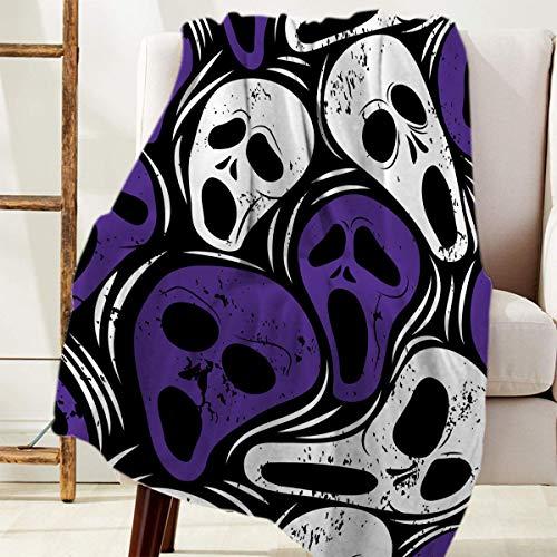 Manta Para Cozy Warm Reversible Throw Blanket Mansión encantada Patrón de suspenso de Halloween Blanket 125 X 100CM