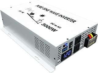 WZRELB DC to AC Converter Off Grid Pure Sine Wave Power Inverter Generator (3000w 24v 120v)