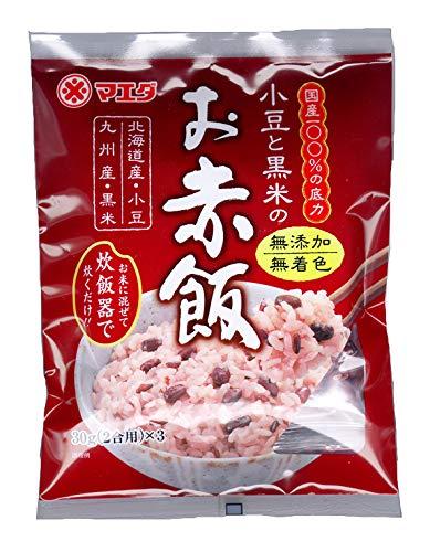 小豆と黒米のお赤飯90g(30gx3)