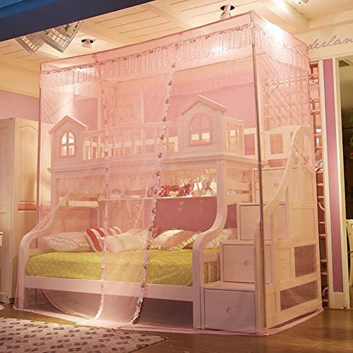 Cama para niños gabinete, redes de escalera Piso de pie, dormitorio de estudiantes, dormitorio, literas, camas, cama, camas, redes,Pink,1.2m
