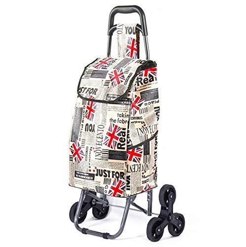 JALAL Einkaufswagen Faltbarer Einkaufswagen Solide mit isoliertem Kühlbeutel Multifunktionaler Gepäckwagen mit großer Kapazität Abnehmbarer Rucksack mit Rädern
