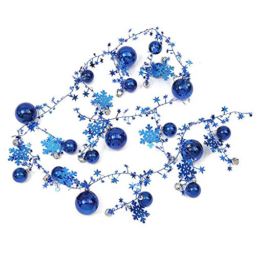 slientC Christmas Ball Ornaments Christmas Tree Decorations | 2M Christmas Shatterproof Balls String Garland | Vintage Ceiling Mantle Wall Decoration