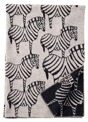 Klippan Zebra Wolldecke 130x180 cm beige beige, schwarz