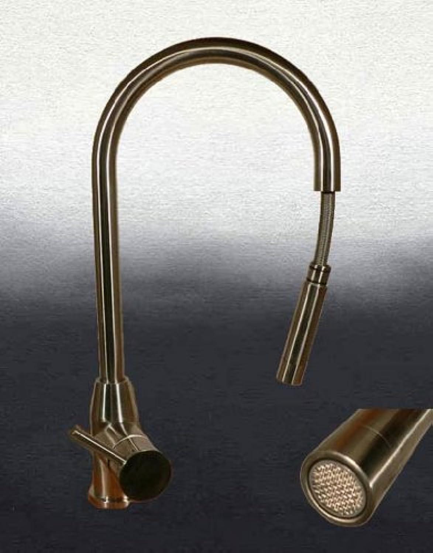 Massiv Edelstahl Küchenarmatur mit Ausziehbrause Armatur Schlauchbrause