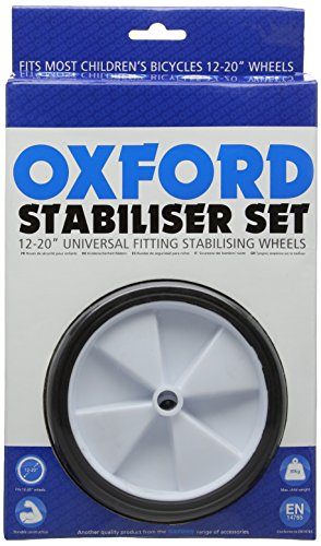 Oxford Kids' Universal Stabiliser Set for Bikes-Black, 12-20-Inch