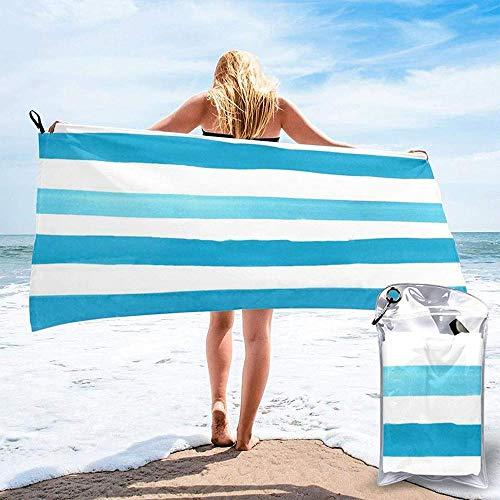 Toalla De Baño Stripe Wave Toalla Súper Absorbente De Microfibra Liviana Y Compacta De Secado Rápido Adecuado para Nadar Acampar Fitness Yoga 27.5'X55