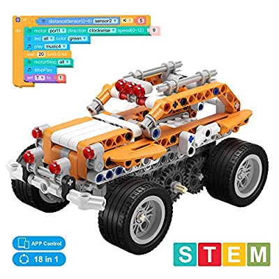 Apitor SuperBot, Educational Building Block 18 in 1 Robot Kit, STEM Coding Learning Toy, APP Remote Control, Ideal Gift for Kids 8+, Compatible with Major Building Block Toys (400+ Pieces)