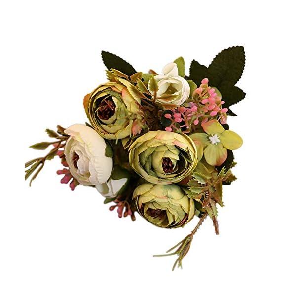 LOadSEcr's Fakeflowers Decor, 1Pc Artificial Tea Rose Hydrangea Garden Photo Prop Hanging Flowers, DIY Wedding Bouquets Party Home Decorations