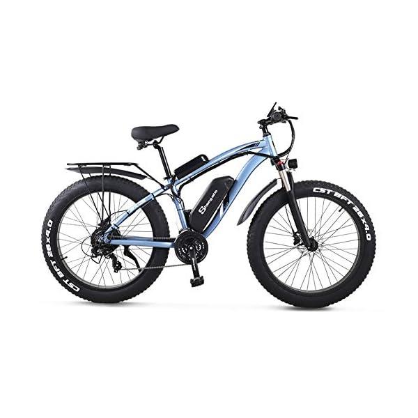 51QdiU2TIJL - sheng milo MX02S 1000W Elektrofahrrad Elektrisches Mountainbike 26-Zoll-Fettreifen E-Bike 21 Geschwindigkeiten Beach Cruiser Herren Sport Mountainbike Lithiumbatterie Hydraulische Scheibenbremsen…