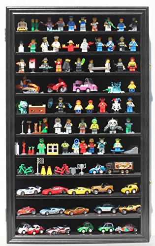 Display Case Wall Curio Cabinet for Building Toys...