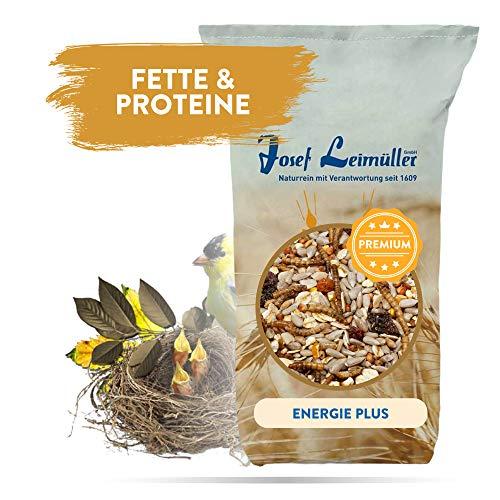 Leimüller Streufutter Energie Plus - energiereiches Wildvogelfutter mit Mehlwürmer, ideal für Aufzucht und Brutzeit 25 kg