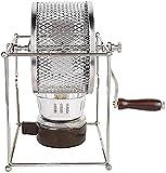 XJYDS Tostador de café Tostado de Frijol de café, Mini Rodillos manuales de Acero Inoxidable en casa, Granos de café, máquina de Asar Bricolaje Tostador de café con asa 300g