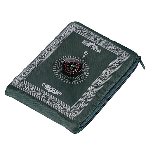 Praying Rug,Hitopin Travel Prayer Mat with Compass Pocket Sized Carry Bag and Attached Compass Praying Rug Portable Nylon Waterproof Easy Praying Mat 60100cm