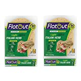Flatout's Light Italian Herb wrap features 55% the net carbs and calories of two slices of the leading multigrain bread! Enjoy great flavors along with 13g of whole grain in each flatbread. With as little as 90 calories per flatbread, you can begin t...