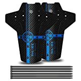 YOLOKE MTB Guardabarros, Guardabarros Bicicletas,Delantero y Trasero Mudguard Adapta a 26', 27.5', 29' Guardias de Barro Bicicleta de montaña(Azul)